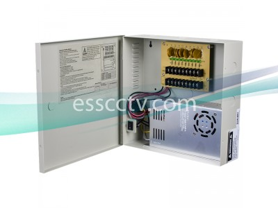 Power Supply Distribution Box - 12V DC 9 channels High Output 30 Amps, Resettable PTC Fuse