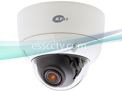 KT&C Outdoor Vandal Dome Camera 960H 750 TVL, 2D DNR, BLC, ATR, 2.8~12mm Varifocal Lens, Dual Voltage
