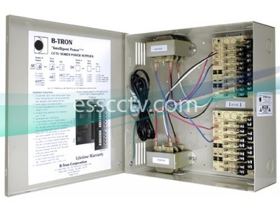 B-TRON Power Distribution Box 24V AC 16 outputs 200VA 8.4 Amps UL Listed, Fused