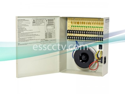Power Supply Distribution Box - 24V AC 18 channels 5 Amps, Resettable PTC Fuse