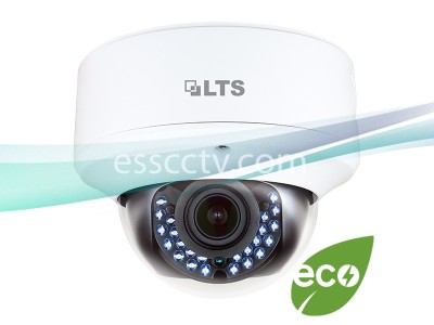 LTS CMHD3423D 2.1MP HD-TVI Dome Camera - 2.8~12mm Varifocal Lens, 30fps at 1080P, IR LEDs, Weather and Vandal Proof