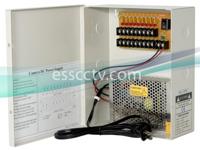 Power Supply Distribution Box - 12V DC 9 channels 10 Amps, Resettable PTC Fuse