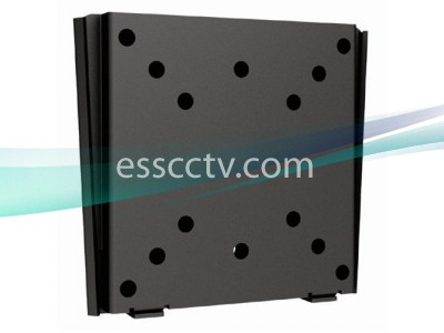 LCD LED Monitor Wall Mount, Simple No Tilt Style, 66 lbs Max Load, Black VESA Standard Bracket
