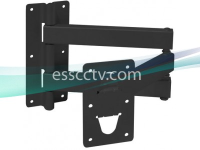 Wall Mount for TV Monitor Bracket (PLB-13, PLB-14) Double Arm, 176 lbs Max Load, Black Steel Bracket