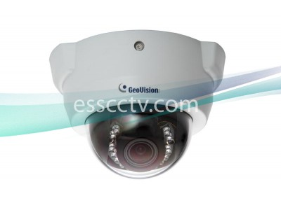 GEOVISION 2 Megapixel Network IP Camera: Indoor Dome, Full HD 1080p, 15 IR LED, PoE