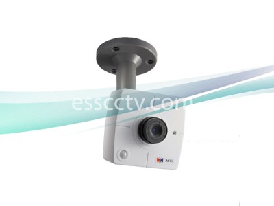 ACTi 1.3 Megapixel IP Network Cube Camera HD 720p, PoE, Built-in Microphone, MJPEG/MPEG-4