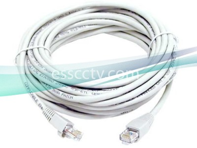 Premade Cat5e Patch Cord Cable: UTP or FTP, 4 Pairs, 24 AWG, 30 FT, Available in many colors