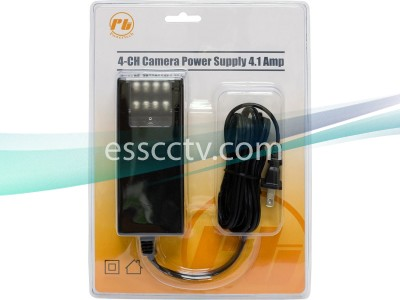 12VDC / 4100mA / 4Ch Power Adapter, Suitable for Small IR camera systems