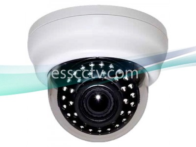 HD-SDI Indoor Dome camera: 2 Megapixel 1080p image, 2.8~12mm Adjustable Lens, 40 IR LED, ICR
