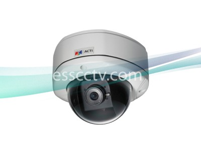 ACTi 4 Megapixel Network IP Outdoor Dome Camera: HD 1080p, 2 way Audio, PoE, H.264 Dual Stream