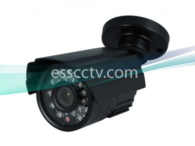 Outdoor Night-Vision Bullet Camera: 600 TVL, ICR True Day/Night, 24 IR 60 FT