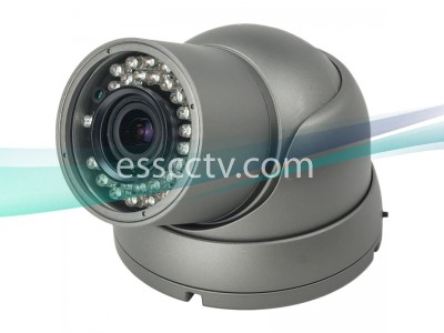 HD-SDI Outdoor Turret Dome IR camera: 2 Megapixel Full HD 1080p image, 2.8~12mm, 35 IR LED