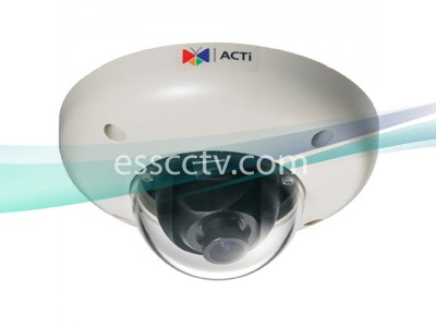 ACTi 1.3 Megapixel IP Indoor Dome Camera HD 720p, PoE, Vandal-Resistant, MJPEG/MPEG-4