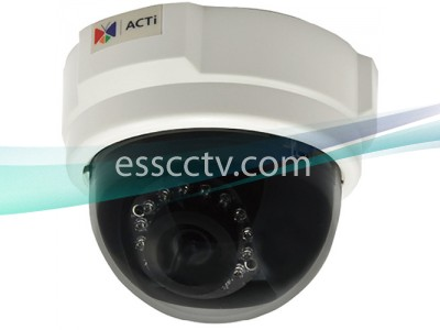 ACTi IP Indoor Dome Camera - 3 Megapixel, 30 fps at Full HD 1080p, 3.6mm, Day/Night with IR LED