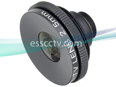 Telpix 2.5mm Standard Fixed Lens for Box Cameras