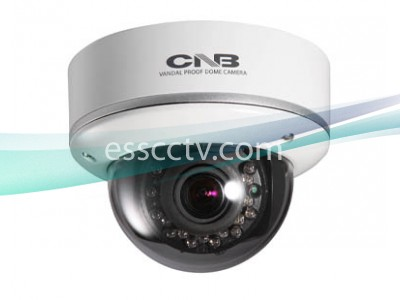 CNB Vandal-Resistant Dome Camera, 700 TVL 960H CCD, 18 IR LED, Adjustable Lens, DUAL power