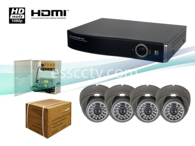 4ch HD DVR Package: HD-SDI system, 2 MP dome IR camera, 1080p recording, HDMI out, iPhone, Android support