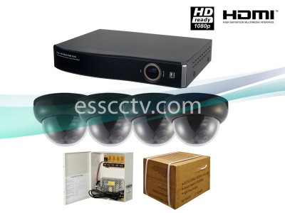 4ch HD DVR Package: HD-SDI system, 2 MP dome camera, 1080p recording, HDMI output, iPhone, Android support