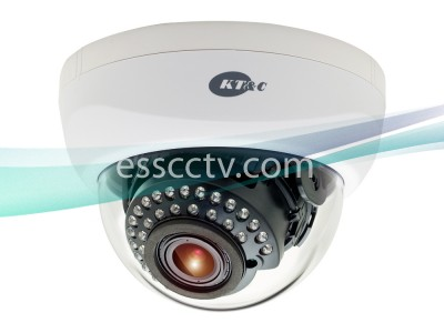 KT&C Indoor IR Dome Camera 960H 750 TVL, 2.8~12mm Lens, 30 IR LED 100 FT, Dual Voltage