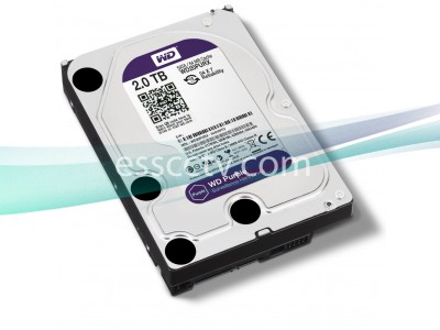 WESTERN DIGITAL Purple WD20PURX SATA Hard Drive 6.0Gb/s, 2TB HDD, Built for Surveillance