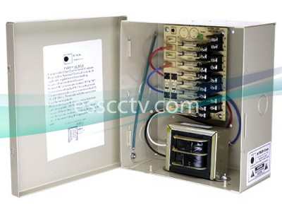 B-TRON Power Distribution Box 24V AC 8ch 100VA 4.2 Amps UL Listed, Fused