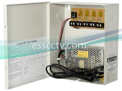 Power Supply Distribution Box - 12V DC 4 channels 5 Amps, Resettable PTC Fuse