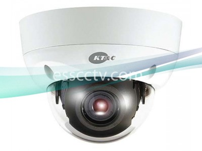 KT&C KPC-VDS302NUV9 Outdoor Vandal Dome Camera, 960H 750 TVL, IP68, Dual Power