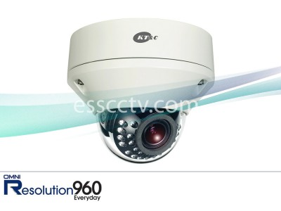 KT&C KPC-DR28V12IR Rugged Dome IR Camera, 960H 750 TVL, 2.8-12mm, IP68, True Day/Night 24 LED