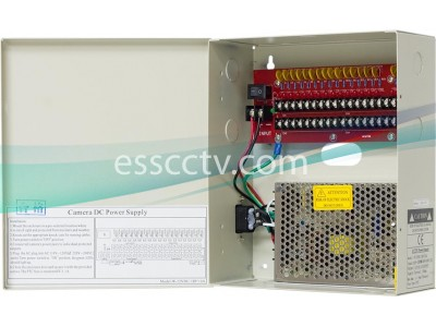 Power Supply Distribution Box - 12V DC 18 channels 10 Amps, Resettable PTC Fuse