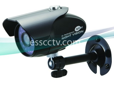 KT&C KPC-NSP302NU Outdoor Bullet IR Camera, 960H 750 TVL, 3.6mm, IP67, 20 LED Day/Night