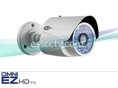 KT&C KEZ-b1BR3IR OMNI EZ HD-TVI Camera 720p Outdoor Mini Bullet, 24 IR LED
