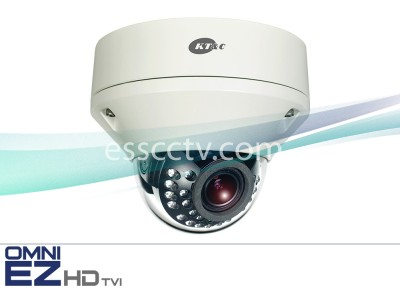 KT&C KEZ-c2DR28V12IR OMNI EZ HD-TVI Camera 1080p Outdoor Vandal Dome IR, 2.8-12mm, Dual Power