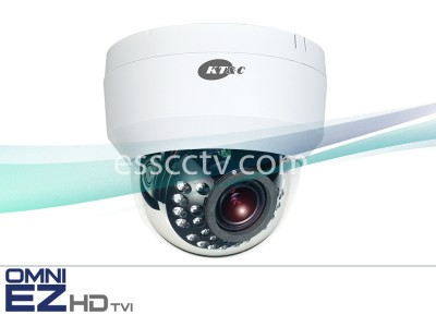 KT&C KEZ-c2DI28V12IRW OMNI EZ HD-TVI Camera 1080p Dome, 24 IR LED, 2.8-12mm, Dual Power