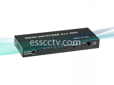 HDMI 4 in 1 out Switch, Support 4K 2K, Audio Out, Power Adpater INCLUDED