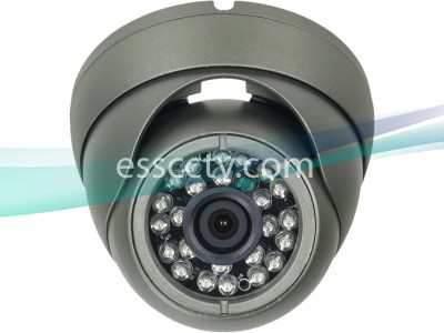 AHD Analog HD Outdoor Eyeball Dome Camera, A-HD 720p Megapixel, 24 Smart IR LED