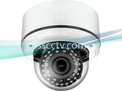 TIV-132V-W HD-TVI 2MP 1080p Outdoor Dome Camera, 2.8-12mm VF Lens, 35 IR LED