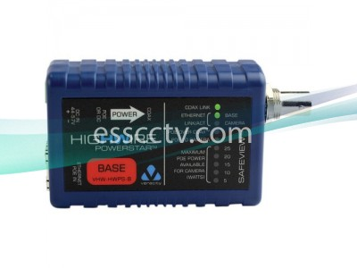 VERACITY VHW-HWPS-B HIGHWIRE POWERSTAR, Ethernet, POE extender over coax video cable, Base