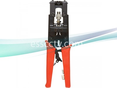Cable Crimp Tool for Compression Type Connectors, Works with RG59, RG6 CCTV Coax Cables