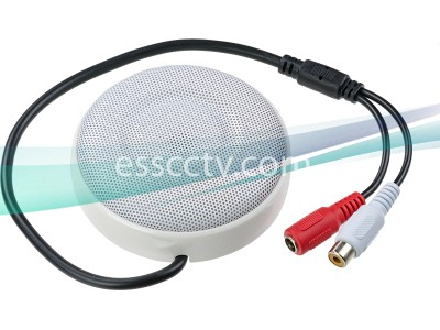 Amplified Indoor Microphone, 10~100m² Range, DC power, Easy to install