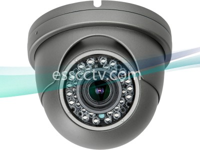 HD-TVI Analog HD 2MP 1080p Outdoor Dome Eyeball Camera, 2.8-12mm Auto-Focus Motorized Lens, 36 IR LED