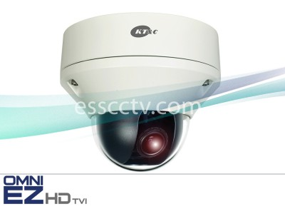 KT&C KEZ-c2DR28V12N 1080p Outdoor HD-TVI D/N Vandal Dome, 2.8~12mm 2MP Lens