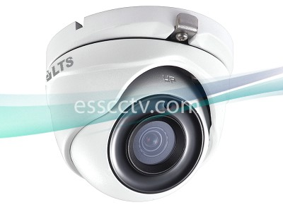 LTS CMHT13T2W-28 HD TVI 3MP 2.8mm Wide Lens 2052x1536P True WDR 65ft Matrix IR Turret Dome Camera