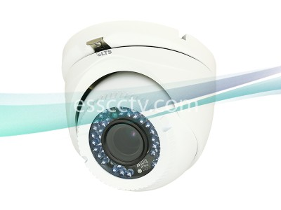 LTS CMHT1432-28 1.3MP HD-TVI Turret Security Camera - 2.8mm Fixed Lens, HD 720p, WDR, IR up to 65ft, Weatherproof