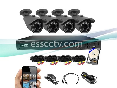 KIT-TVI-4084B-B 8CH 1TB HD-TVI System + 4 x 2MP HD-TVI Outdoor Bullet Cameras