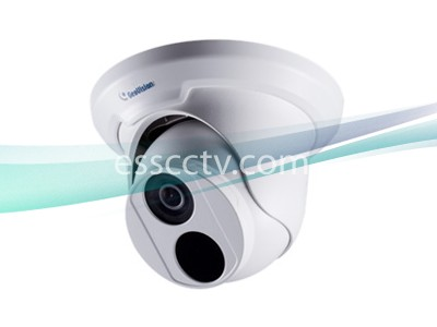 Geovision GV-EBD4700 4MP IR Eyeball Dome Lens: 2.8mm H.265 Low Lux WDR PRO DC-12V/PoE