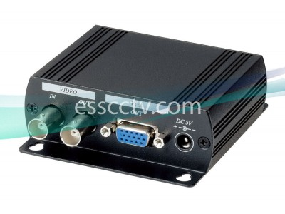 Composite Video to VGA Converter, BNC in BNC / VGA Dual out