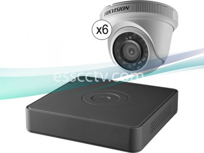 Hikvision TurboHD 8Ch 1080p DVR and 6 1080p Turret Cameras Kit