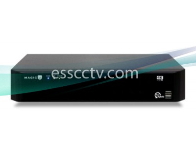 EYEMAX UVST-MAGIC-4K08 Magic U 4K Series | 8CH Octa-brid DVR System, All-channel 4K Recording, 2 HDD slots, eSATA, 8CH Audio