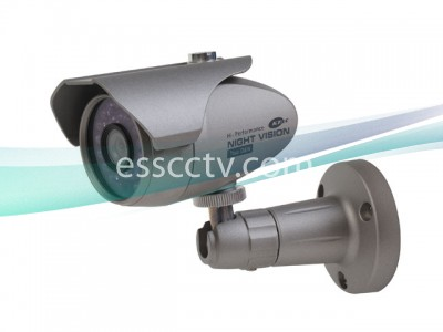KT&C Color IR Bullet Camera - 380 TVL, 20 LED 60 FT, 12V DC