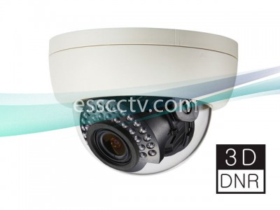 KT&C KPC-DNH100NHB Color Dome Camera 600 TVL, 0.2 Lux, 3D DNR, 30 IR LED, SENS UP, HSBLC, OSD, Varifocal Lens (Optional)